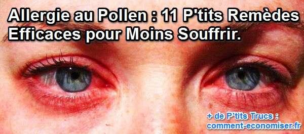 Allergie au Pollen  11 ptits Remdes Efficaces pour