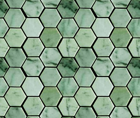Green Hexagon Tile Background Seamless Background Or