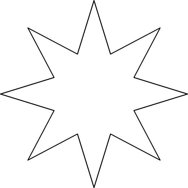 comment dessiner etoile 8 branches