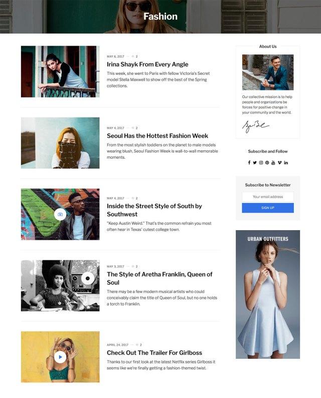 Newspread - a fast loading Magazine and News WordPress Theme