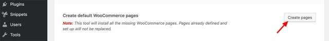 Adding any missing WooCommerce pages