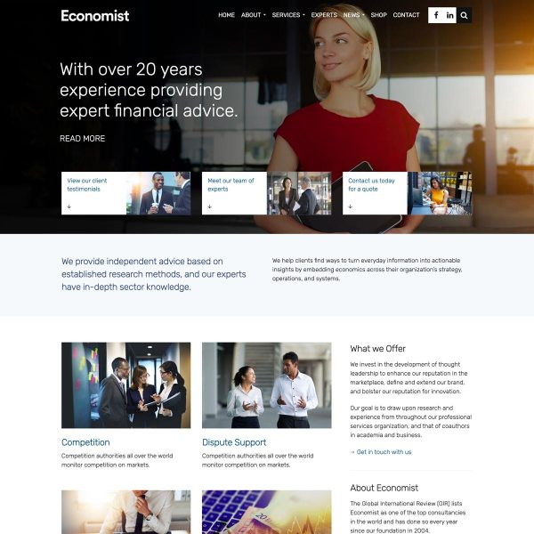 Economist WordPress Theme
