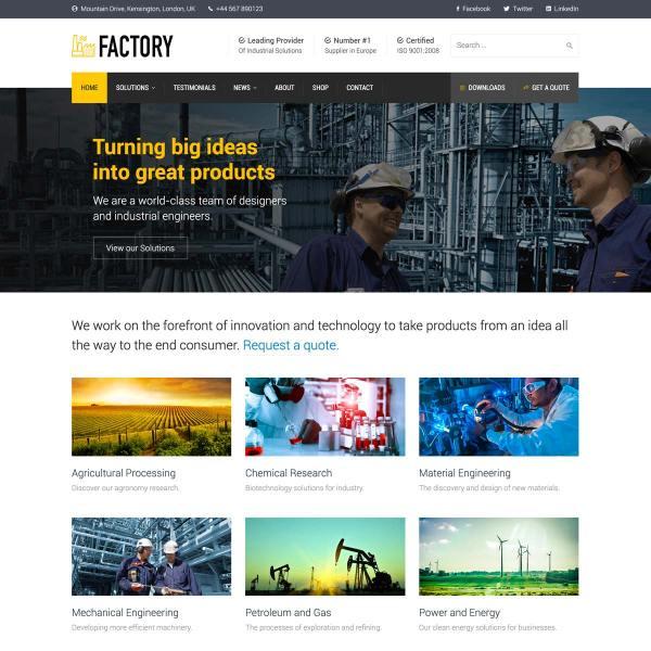 Factory WordPress Theme
