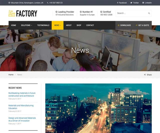 Factory - News page