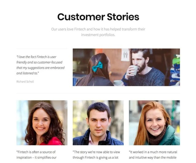 Fintech customer stories