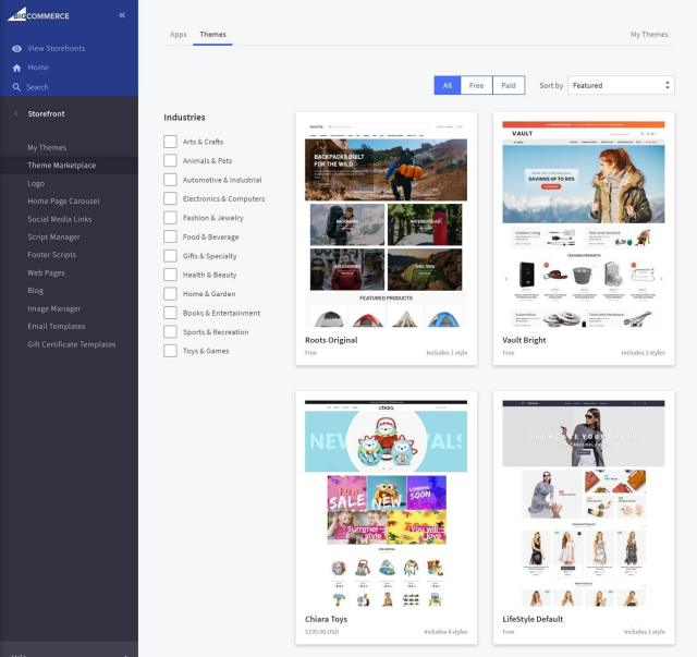 BigCommerce review of themes