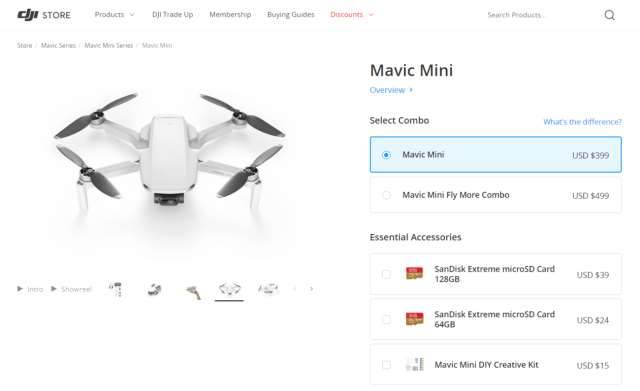 Product on the DJI store