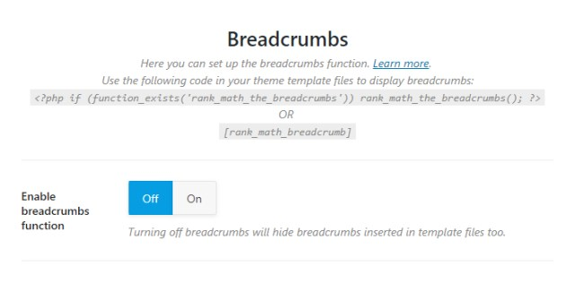 Enable breadcrumbs