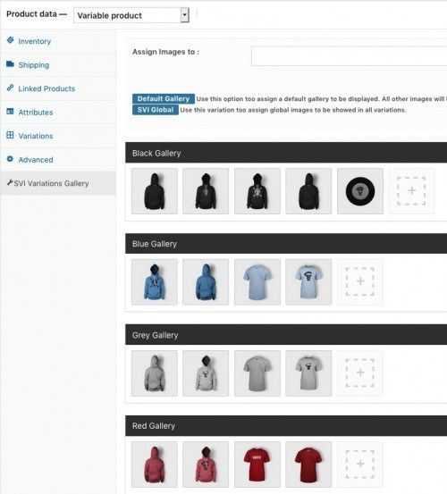 Smart Variations Images for WooCommerce back-end