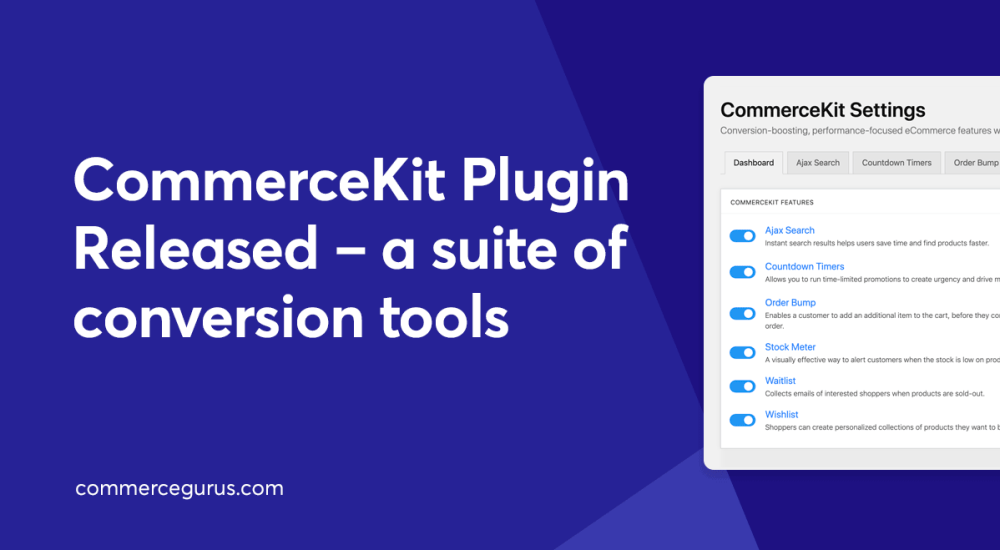CommerceKit Plugin Released