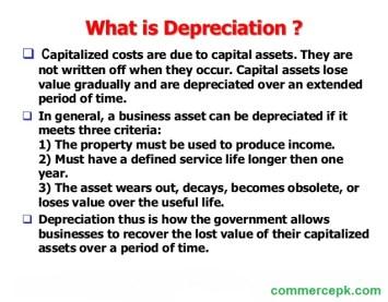 what is depreciation