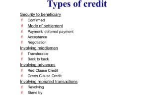 credit instruments types
