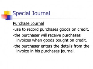 special journals in accounting