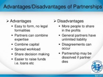 Advantages and Disadvantages of Partnership,