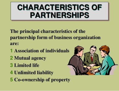 characteristics of partnerships business