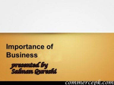 importance of business