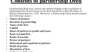 8 essential elements of partnership what is partnership deed and discuss its contents altavistaventures Image collections