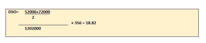 days sales formula analysis