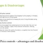 Price controls – advantages and disadvantages