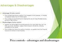 Price controls – advantages and disadvantages