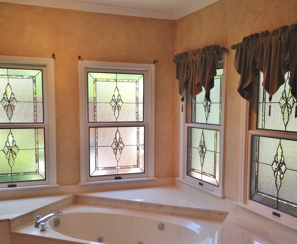 Bathroom Stained Glass sidelights