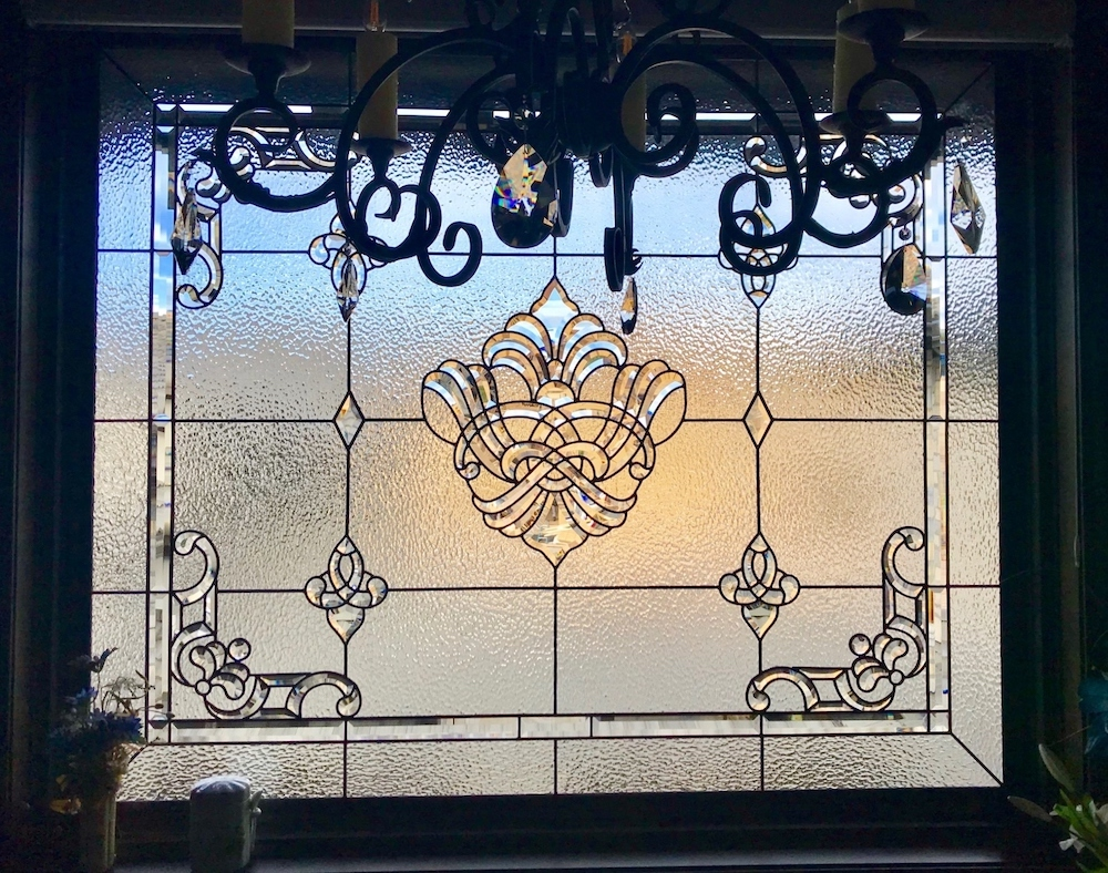 Bathroom Stained Glass square window