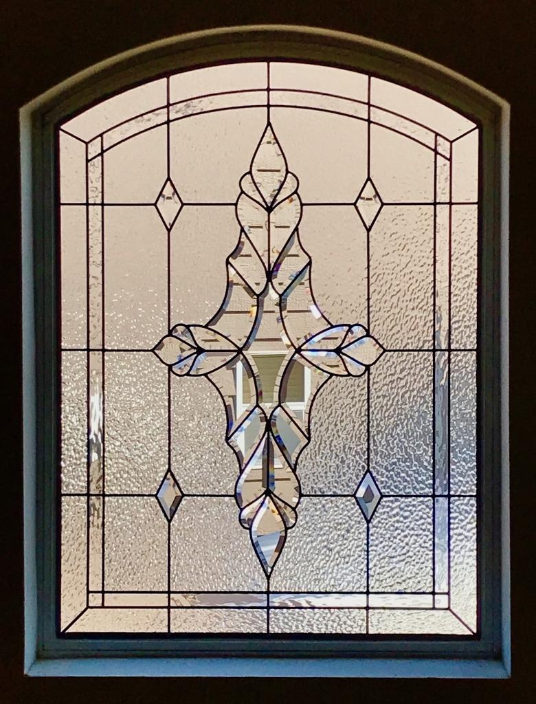 Bathroom Stained Glass window
