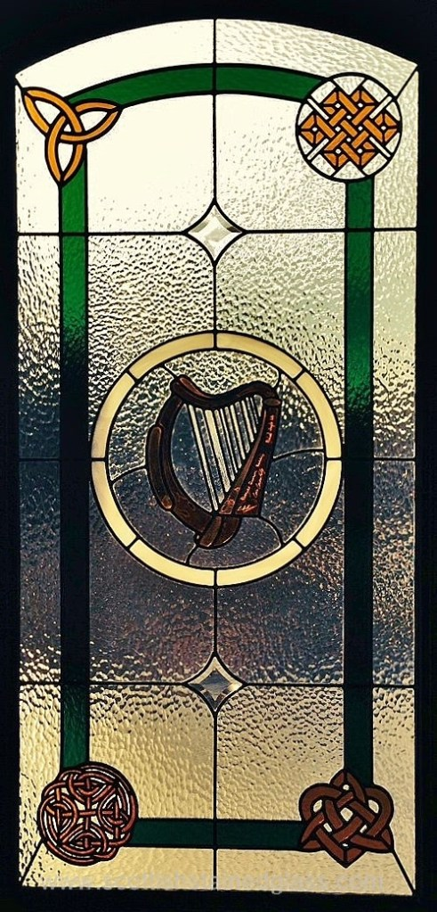 Celtic Stained Glass harp