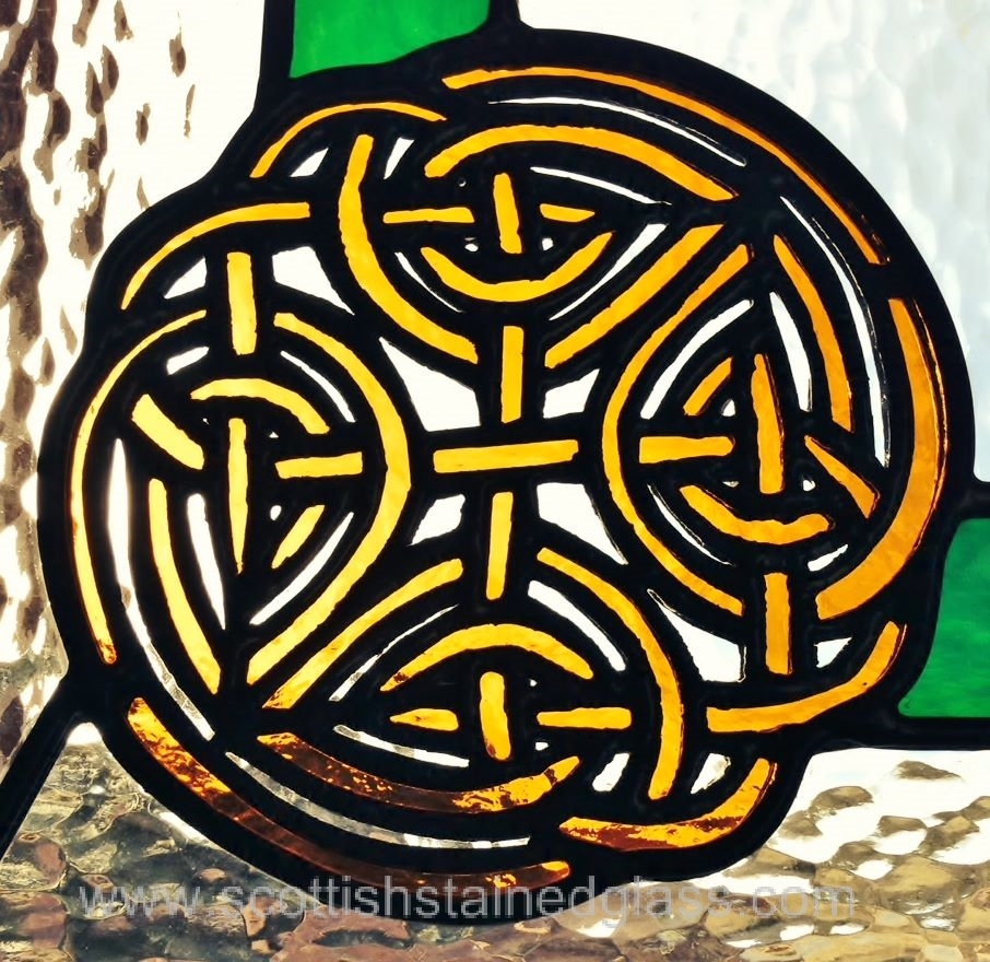 Celtic Stained Glass yellow pattern