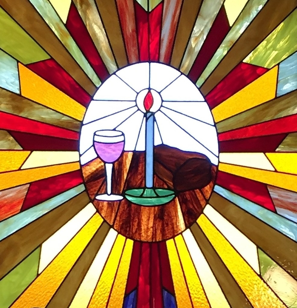 Church Stained Glass Wine