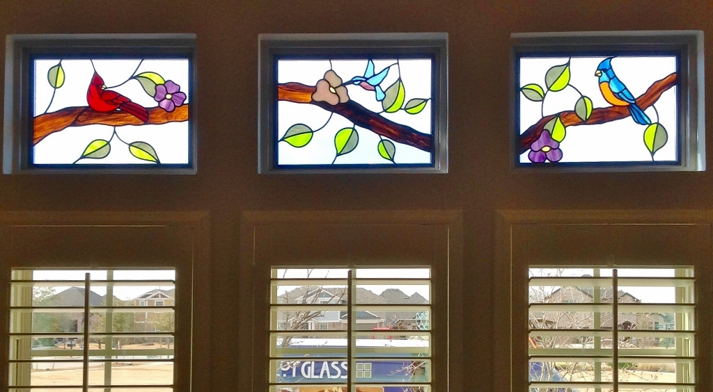Floral Stained Glass small windows