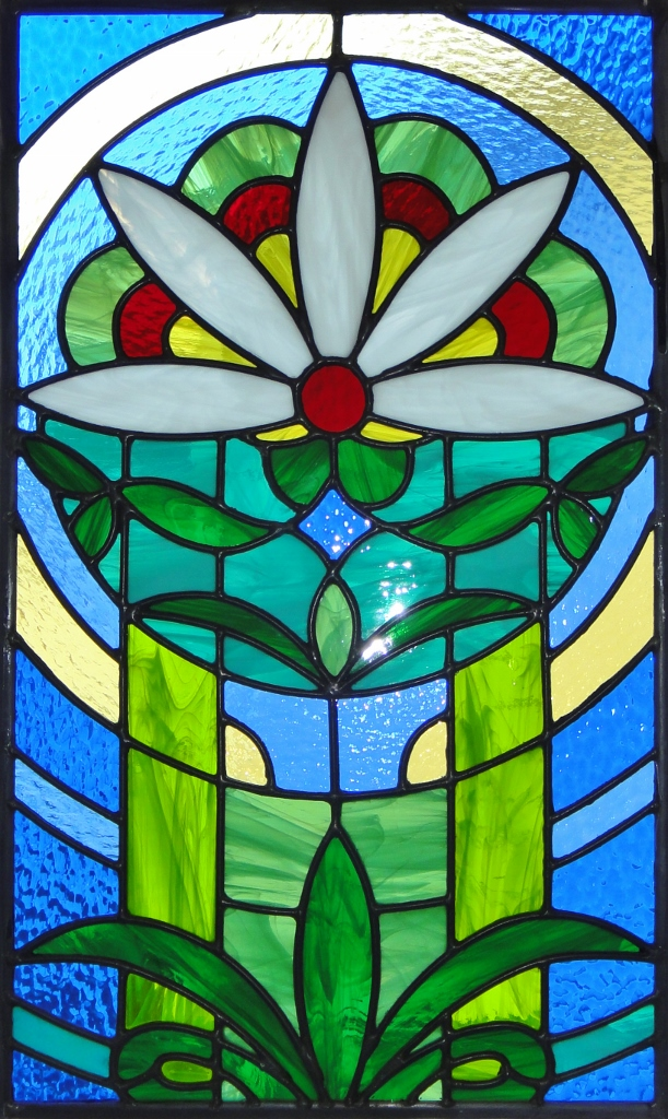 Floral Stained Glass sun