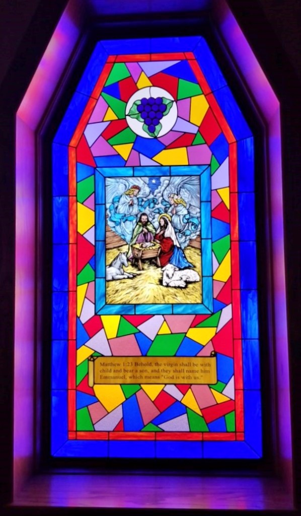 Religious Stained Glass Large