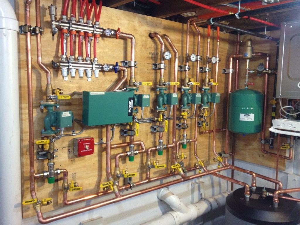 gravity hot water wiring diagram motor control understanding hydronic heat   commercial block chains