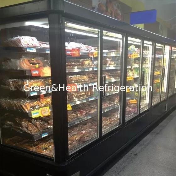 Frozen Food Commercial Glass Door Refrigerator 20C 5
