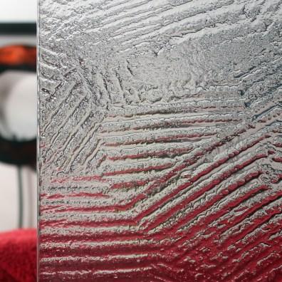 Cardinal Paint Patterned Glass Sample