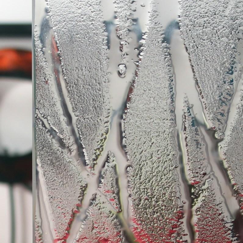 Cardinal Wisp Patterned Glass Sample