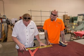 BJ Krummel (left)- Owner of A Cutting Edge Glass & Mirror of Las Vegas, Nevada