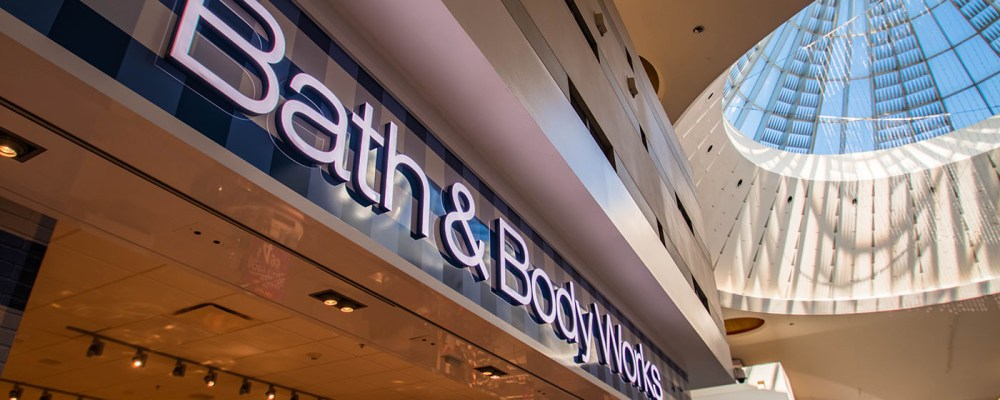 Bath & Body Works of Las Vegas, Nevada - Storefront by A Cutting Edge Glass & Mirror of Las Vegas, Nevada