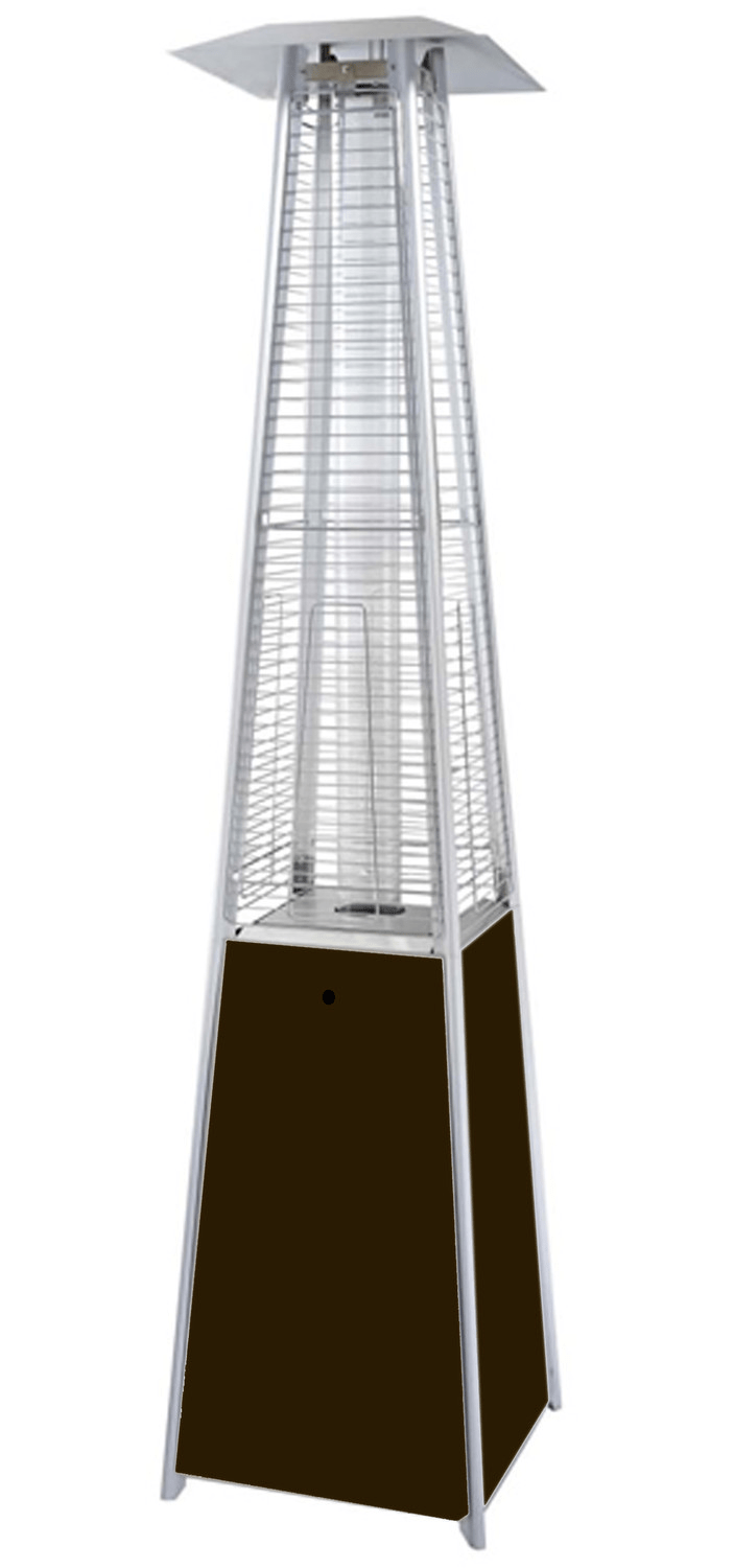 Glass Tube Pyramid Commercial Bronze Patio Heater