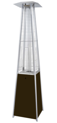 Glass Tube Pyramid Commercial Bronze Patio Heater ...