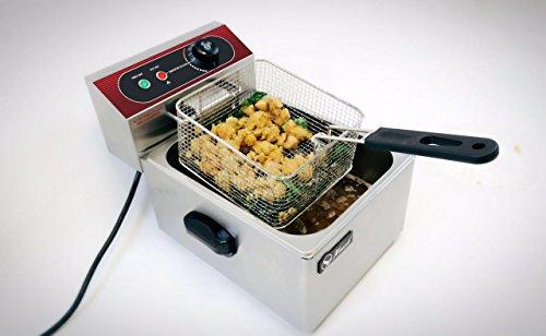 5000W 11L Dual Tanks Electric Deep Fryer Commercial Tabletop Fryer+Basket Scoop