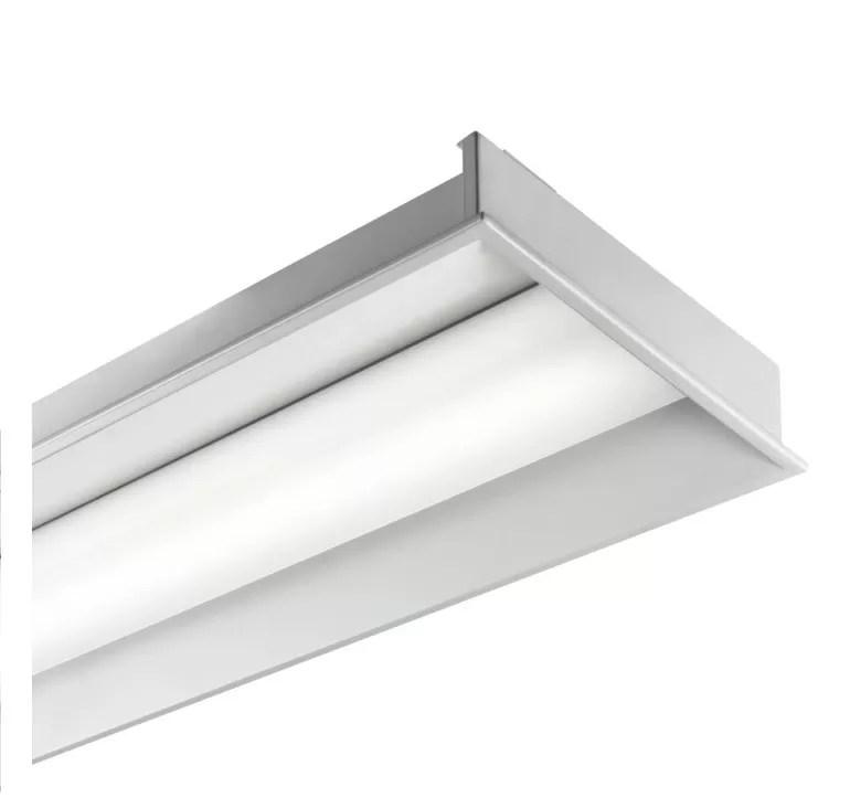 embeded iron led linear flush mount light fixture 60 120 for modern office