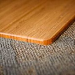 Bamboo Chair Mat Used Wedding Covers Ebay Anji Mountain Desk Floor Roll Up Natural Corner