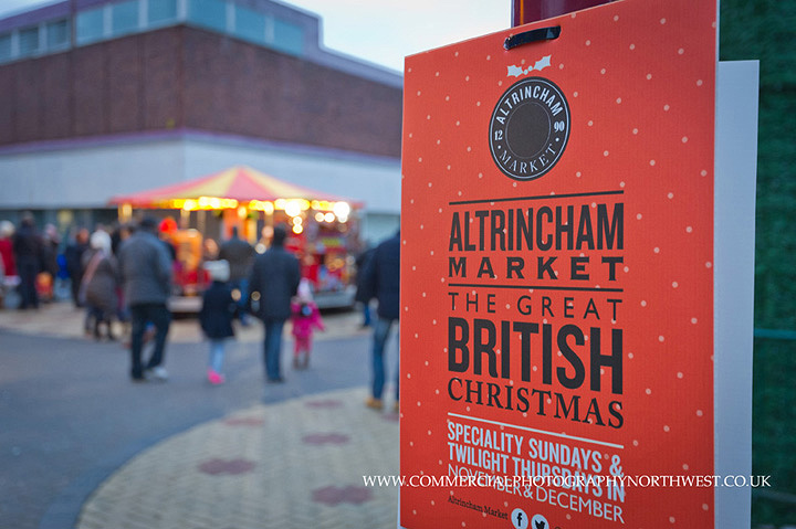 Altrincham market Christmas Stamford Quarter