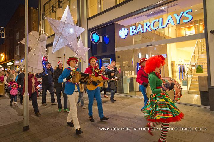 Christmas lights Stamford Quarter lantern parade