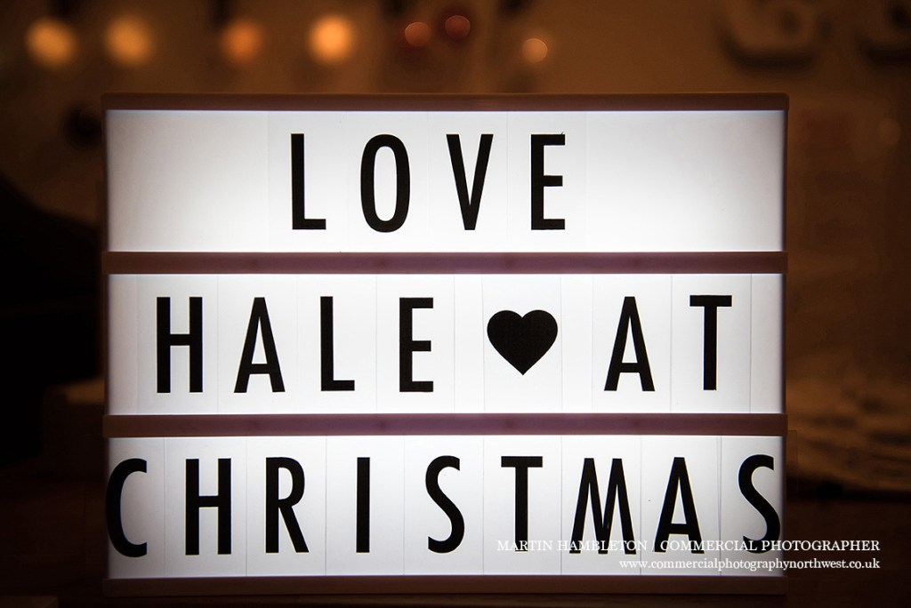 love hale this christmas campaign illuminated sign