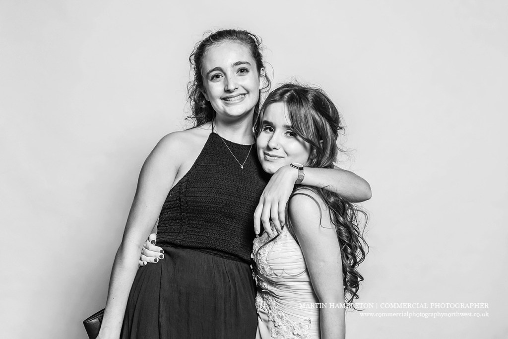 black and white prom photography