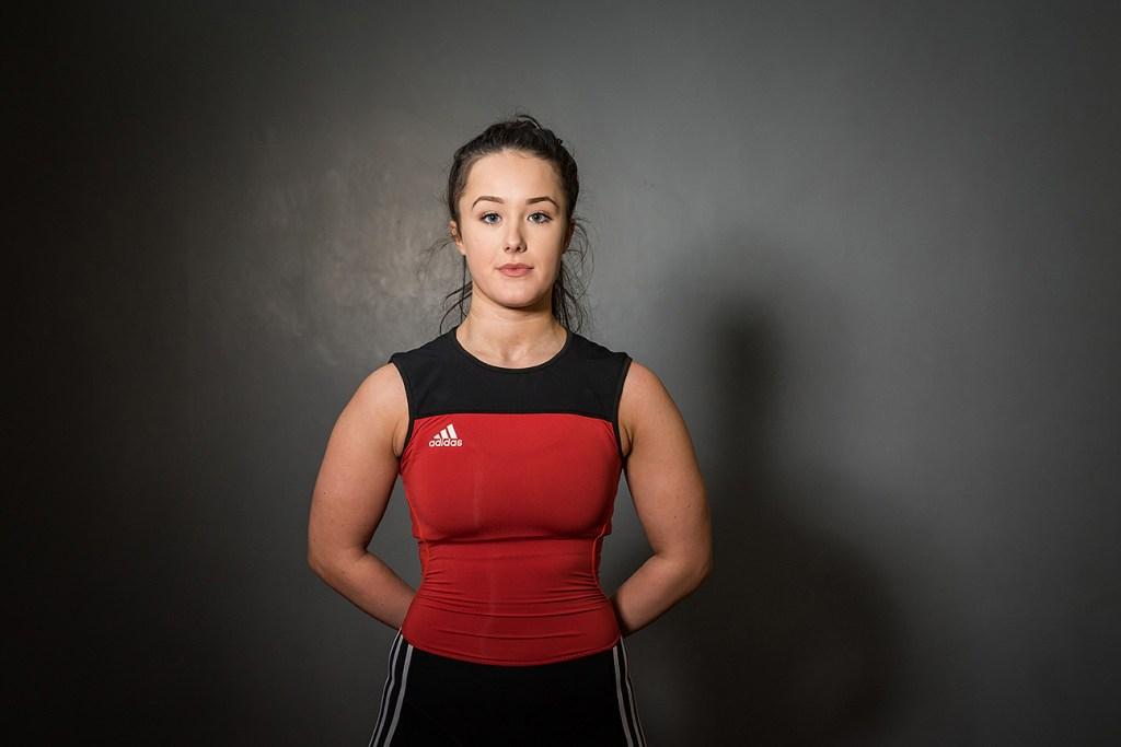 pr portrait of weightlifter Ellie McManus