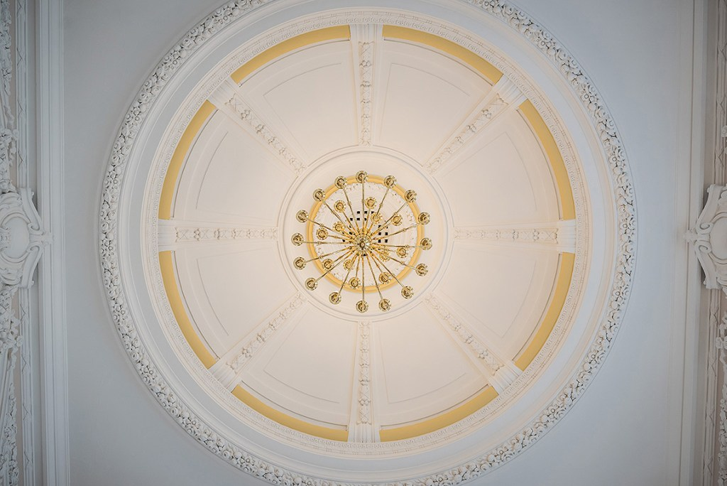 Ceiling rose in Stoke Town Hall